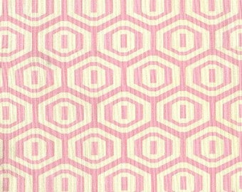 Last Fat Quarter Amy Butler Fabric - Midwest Modern - Rosy, soft pink Geo -100% High Quality Cotton Rare - Great Price