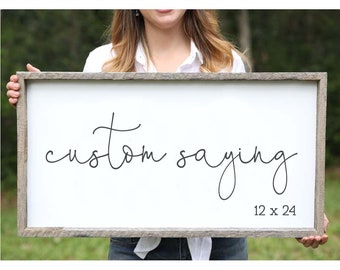 Design Your Own Farmhouse Sign for Home Custom Sign Sayings Quotes Custom Wood Sign Quotes Living Room Decor Wedding gift Gallery Wall Sign