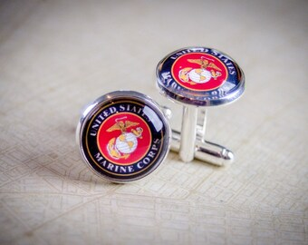 Cufflinks, USMC Cufflinks, Military Formalwear, United States Marines, Marine Wedding, USMC formal, Military wedding, Navy men's jewelry