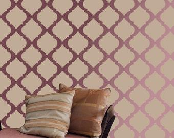 Wall Stencil moroccan stencil Pattern Wall Room Decor Made by decorze Stencils