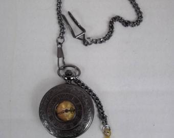 Steampunk pocket watch, Fob watch , time piece, groomsman, quartz watch, wedding