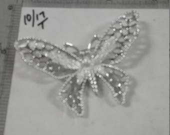 Used silvertone  sarah coventry butterfly brooch