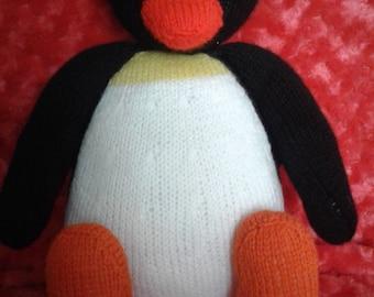 Pingu knitted penguin
