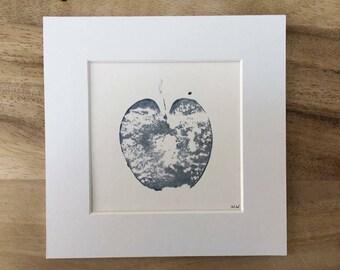 Original apple monoprint