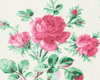 Verna Mosquera PWVM174 Peppermint Rose Dove Cotton Fabric By Yd