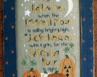 Witching Hour by Waxing Moon Counted Cross Stitch Pattern/Chart