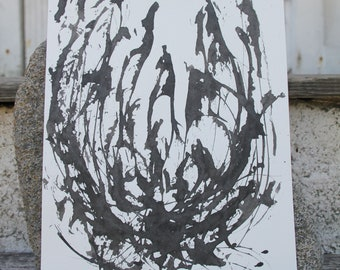 Skeletal Belgica III, painting by Kim Carlsson