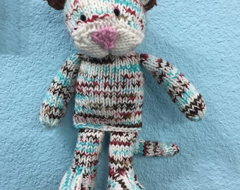 Hand knitted Calico Cat