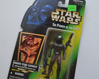 Death Star Gunner - Vintage Star Wars Figurine - Sealed on Card 1996 Collection 1 The Power of the Force Action Figure