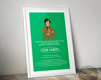 Dirk Gently poster - Choose from 2 characters (Made to order)