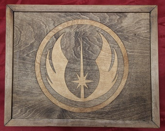 Jedi Order Wooden Inlay Wall Art