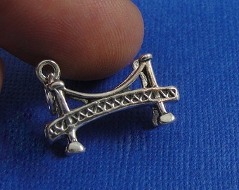 Bridge Charm - Sterling Silver Golden Gate Bridge Charm for Necklace or Bracelet