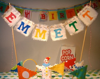 Cake Bunting- Custom Made Personalized with any name and color