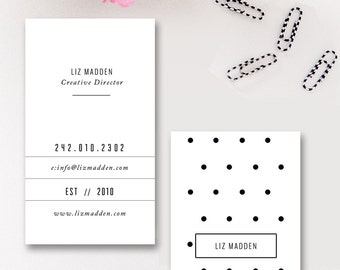 Moo business card etsy business card template photoshop templates polka dot digital photoshop design for millers lab reheart Images