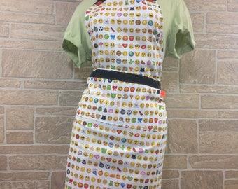 Emoji apron, 3-in-1 apron, fun apron,  Party apron, emoji lover