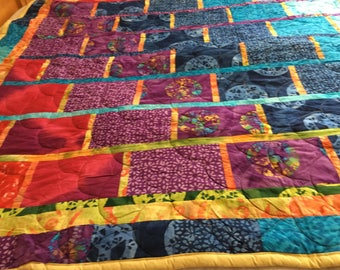 colorful quilt  this will  brighten your day