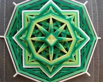 Ojo de Dios Yarn Mandala Eye of God Chakra Anahata, Reiki Healing set, Love Power Talisman, Created by a Reiki Master Teacher.