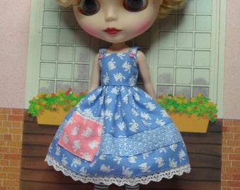 BLYTHE DOLL--Blue Bunny Sundress ONLY--