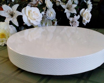 "Wedding Cake Stand ""White Reflections"" 14"", 16"", 18"", 20"", and 22"" cake stand"