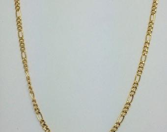 14K Yellow Gold Figaro Chain ~2.50mm