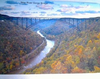 New River Gorge  Bridge Magnet
