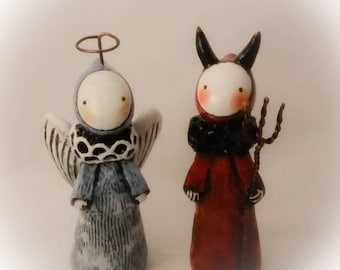 Angel and Devil Poppet Set