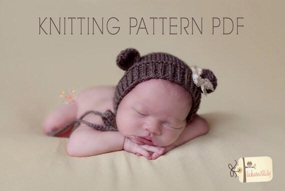 Outstanding Knit Bear Hat Pattern Illustration Knitting Pattern