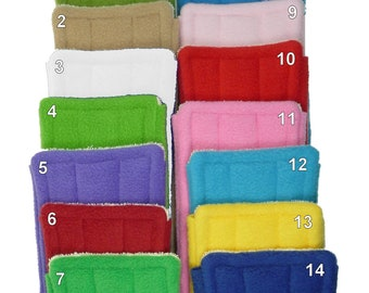 """1 to 10 FLEECE & TERRY Double Sided Reusable Swiffer Pads, EcoGreen Pads, washable Swiffer Sweeper pads, mop and dust, fits 10"""" Swiffer mops"""