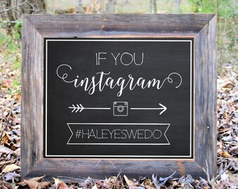 If You Instagram Hashtag Chalkboard Sign Wedding Party Print Printable