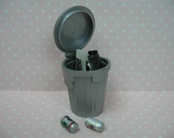 Miniature dolls house modern dustbin