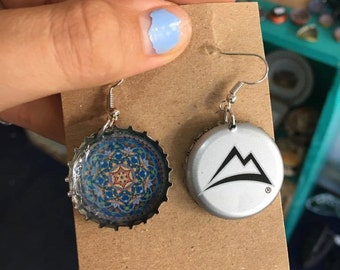 Bottle Cap Jewelry, Earrings: No Beads, No Shaping, Perfect Addition to Jewelry Armoire or Jewelry Box