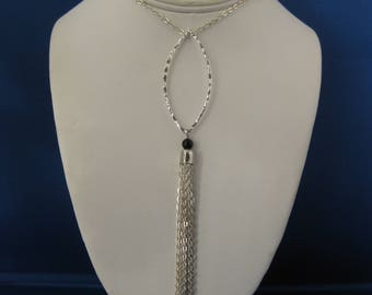 Upcycled Silver Earring Necklace