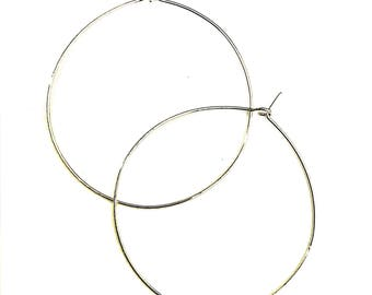 Gold Hoop Earrings, Silver Hoops, Statement Hoop Earring, Jewelry, Gift, Rose Gold Hoop Earrings, Gunmetal Hoop Earrings, Handmade earrings