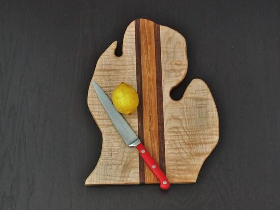 Big Michigan Cutting Board. Lower Peninsula. Great gift for the Michigan lover, snow bird, cook.