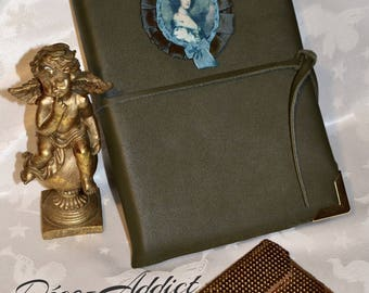 Stunning protects khaki leather diary