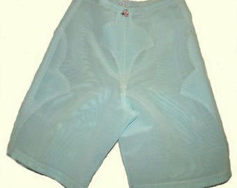 Vintage Sears long line girdle tummy support in birght green large waist 29-30