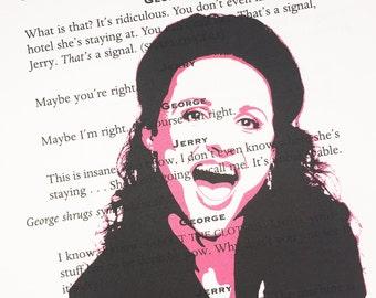 Elaine Benes Seinfeld TV Show Cast Script Print