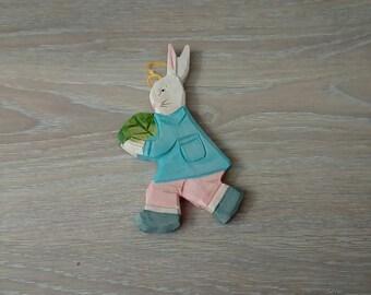 Bunny wooden garden decor