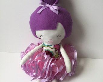 Ballerina doll, rag doll