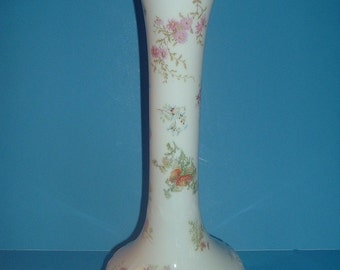 Vintage Tall Leonard Vienna Austria Floral Vase