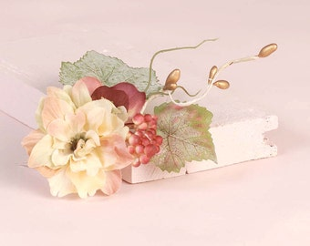 Woodland Flower Comb Wedding Flower Hair Piece Rustic Floral Headpiece Bridal Hair Accessories Bridesmaid  Mori Girl Forest Girl