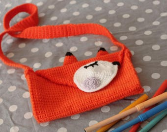 Crocheted Fox pouch