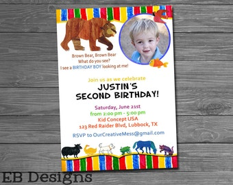 Brown Bear Invitation