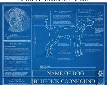 Personalized australian shepherd blueprint australian personalized bluetick coonhound blueprint bluetick coonhound art bluetick coonhound wall art bluetick coonhound malvernweather Images