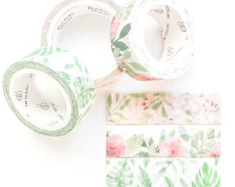 Leafy Rose Washi Sample