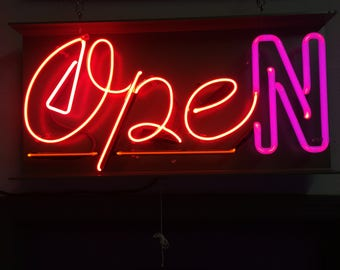 Custom Neon Open Sign