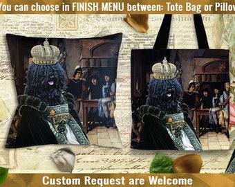 Puli Pillow/Puli Tote Bag/Puli Art/Dog Tote Bag/Dog Pillow/Puli Portrait/Custom Dog Portrait/Custom Dog Pillow or Tote Bag/Personalized Dog