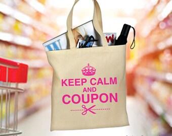 Tote Bag, Keep Calm And Coupon, Shopping Bag, Cotton Tote Bag