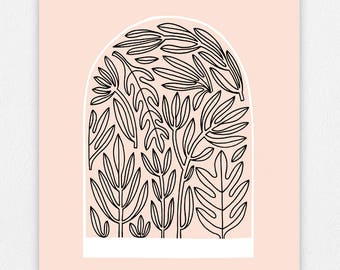 Terrarium - Pink -  11 x 14 Screen Print