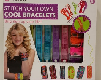 """i-Studio """"Stitch Your Own Cool Bracelets"""" Kit for ages 6+"""